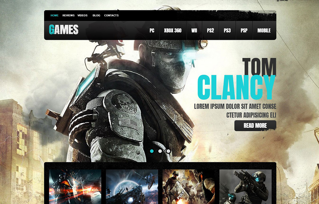 Game Portal Website